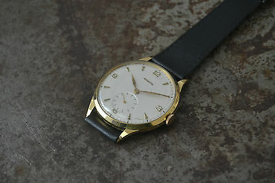 Zenith Oversized Cal126 Vintage 18K Solid Yellow Gold Watch Uhr 37Mm