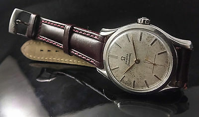 Omega Seamaster 2487-1 Vintage Stainless Steel Watch Uhr Cal.266, 36Mm Rare Lugs