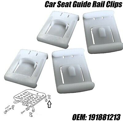 4x Seat / Chair Runner Guide Clips For VW Golf MK1 MK2 MK3 GTI VR6 White Plastic