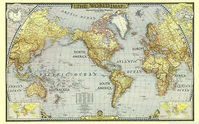 World Map Continents Giant Poster - A5 A4 A3 A2 A1 A0 Sizes