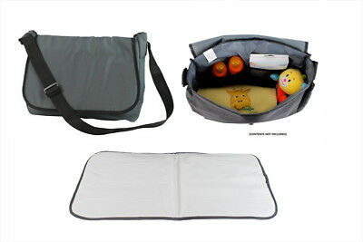 Quality Baby Changing Bag & Change Mat (Grey)