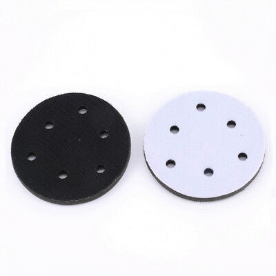 5'' 125mm Soft Foam Cushion Interface Pads For Hook & Loop Sanding Disc 6 Holes