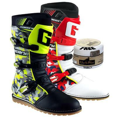 Gaerne Balance CAMO Trials Boots - Blue, Red or Flou Yellow