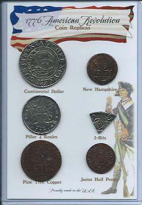 Set of 6 1776 Coin Replicas Replicas - can be used as an Educational Resource!