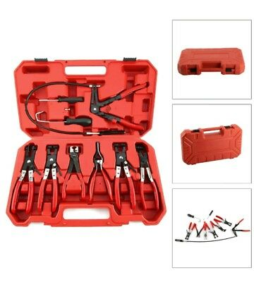 New Hose Clamp Clip Plier Set, Swivel Jaw Flat Band Angled Removal Tool 9PC Set