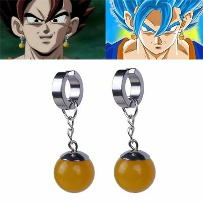 【USA Stock】1PC Super Dragon Ball Z Cosplay DBZ Vegetto Potara Earring Ear Stud