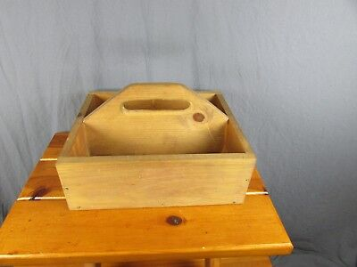 Tool Box Tote Vintage Wooden Garden Caddy Rustic Farm Large Handmade