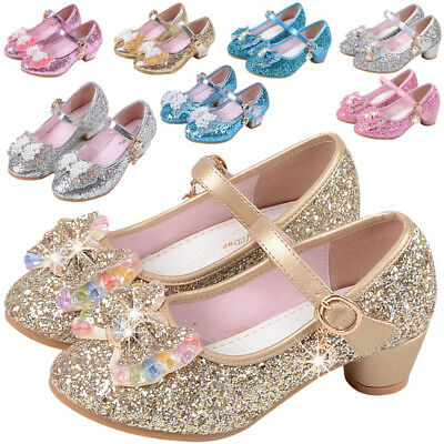 Girl's Princess Kids Performance Shoes Sequins Sandals SWEET NEW Dress Shoes US
