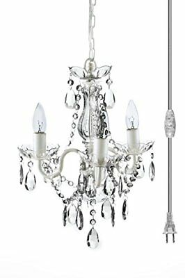 "The Original Gypsy Color 3 Light Mini Plug-in Crystal Chandelier for H16"" W13"","