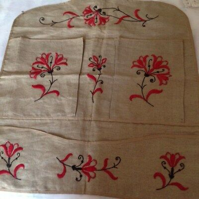 Unique Antique Arts & Crafts Embroidered Keeper