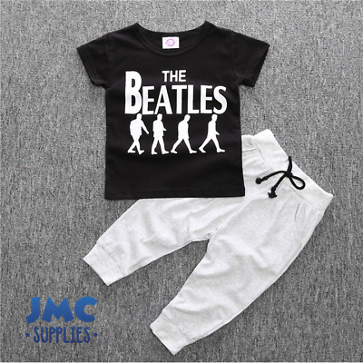 The Beatles Boys Tracksuit Pants and T-shirt Baby kids Littleman Up-to 3 Years