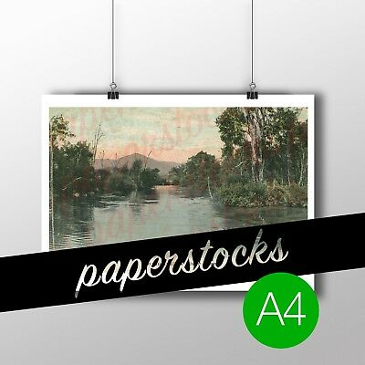 c.1890's 'AN AUSTRALIAN RIVER VIEW' THE YARRA? A4 PRINT REAL PHOTO TRAVEL