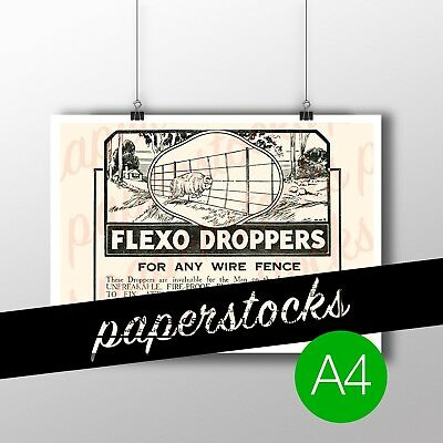 """c.1920 RYLAND BROS. """"FLEXO DROPPERS"""" WIRE A4 PRINT AGRICULTURAL FARMING ADVERT"""