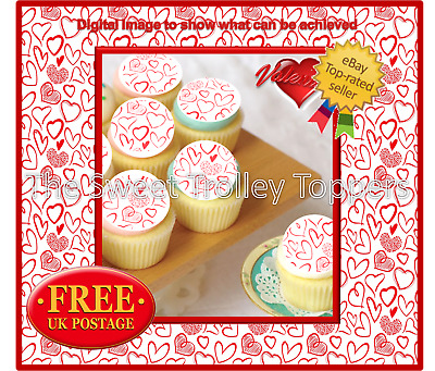 PERSONALISED EDIBLE CUPCAKE TOPPERS CAKE WAFER RICE PAPER 8142 24 x STAY CALM