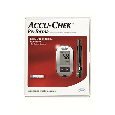 NEW Accu-Check Glucose Monitor Starter Kit 5 Second Blood Test Sample Size