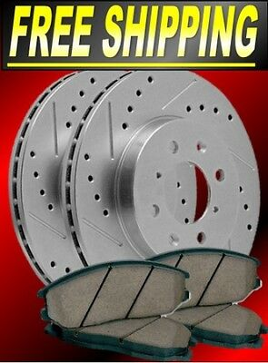 Front/rear Drill Slot Rotors & Ceramic Pads Fits Toyota 4 Runner 2010-2012