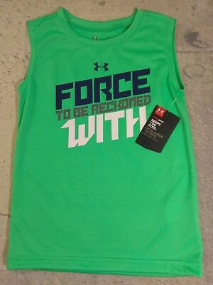 Under Armour Tank Top Green 4T Force to be Reckoned With NWT Boys