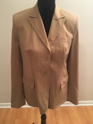 A Pea in the Pod Maternity Women's Blazer Khaki Long Sleeve Size Small