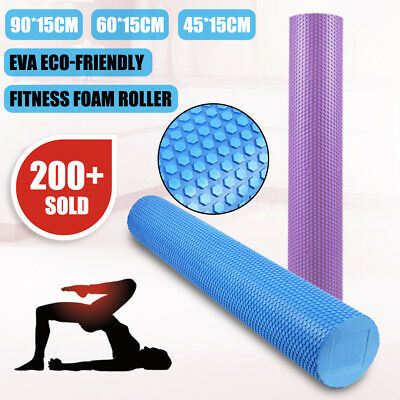 45/60/90CM EVA Physio Foam Roller Back Gym Exercise Massage Trigger Point Sport