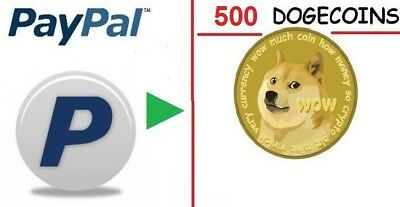 500 Dogecoins (DOGE) to your Doge Wallet Virtual # Buyer photo/ ID NOT required!