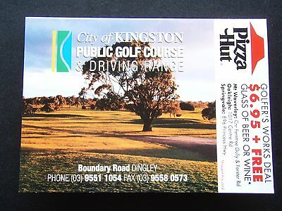 City Of Kingston Public Golf Course & Driving Range Dingley Pizza Hut Score Card