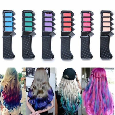 6 Color Temporary Hair Chalk Hair Comb Dye Salon Kits Party Fans Cosplay Fashion