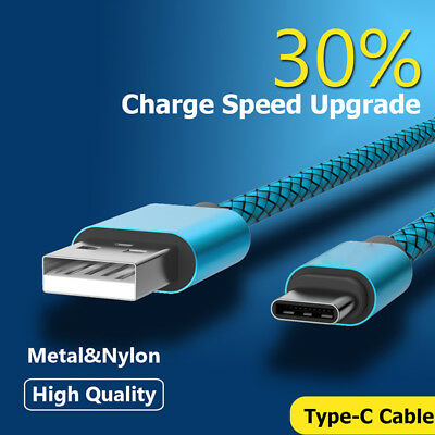1M-3M Braided Heavy Duty USB C 3.1 Type-C Data Snyc Charger Charging Cable