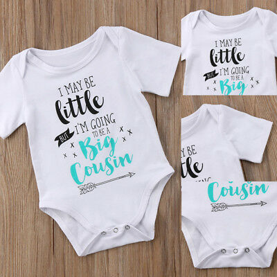 Newborn Toddler Baby Boys Girls White Tops Romper Jumpsuit Clothes Outfits 0-18M