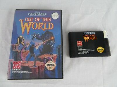 Out of This World (Sega Genesis, 1994) Game and Case