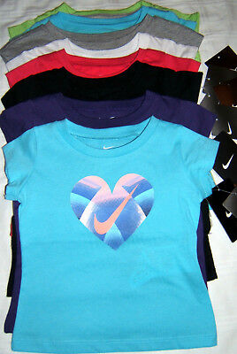NIKE T Shirt Girl 12 18 24 Month 2T Toddler Heart Awesome Gifted Many Colors NWT