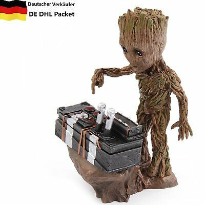 Guardians Of The Galaxy 2 Marvel Baby Mini Groot Painted Movable Figure