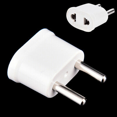 2pcs Travel cargador pared AC Plug adaptador convertidor US usa a EU Europa