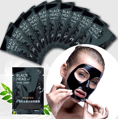 10 Blackhead Remover Mask Deep Cleansing Purifying Peel-off Black Mud Mask
