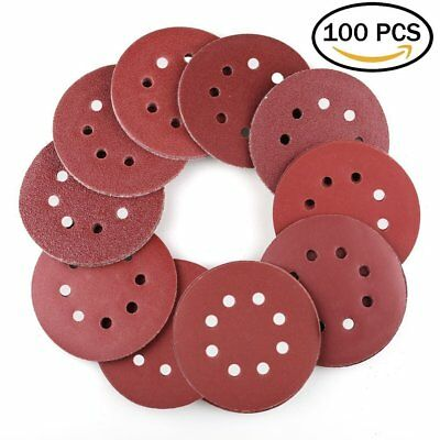 5Inch Sanding Disc Sandpaper 40/60/80/100/180/240/320/400/800Grit Polishing Pad