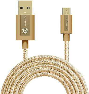 Micro USB Cable Fast Charge Data Sync Braided Lead Samsung Galaxy Android Phone