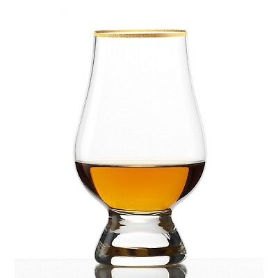 Tulip Scotch/Whisky Glass GLENCAIRNE with Gold Rim, 160ml (Set of 6) by JM Style