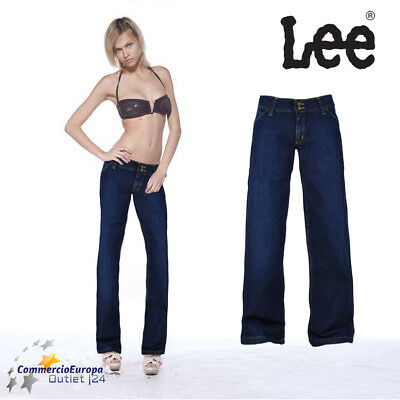 Jeans Donna Lee Sonora It 47 Pants Pantaloni Woman Cotone Cotton Slim Fit