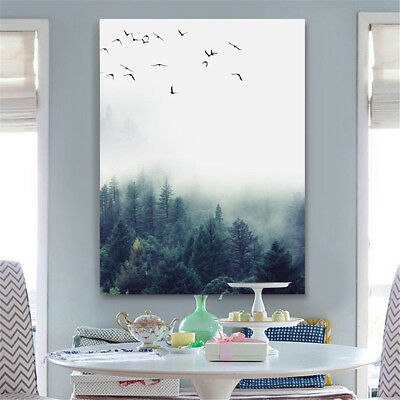Forest Landscape Canvas Painting Print Living Room Home Wall Picture Unframe