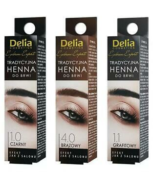 Delia Henna Eyebrow Eyelashes BLACK BROWN GRAPHITE 2G