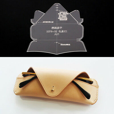 Acrylic Leathercraft Template Pattern For Glasses case Bag Handmade DIY MPB-02