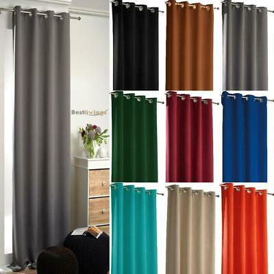 2x thermovorhang kräuselband rideaux black-out Opaque Champagne 175x135cm