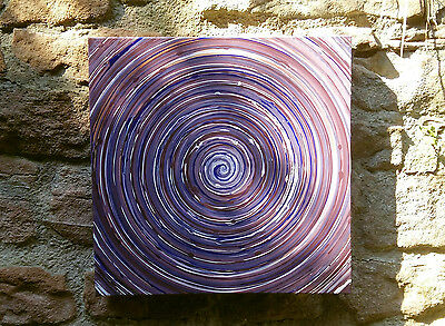 "Thomas VISALIUS: "" Ultra Violet "" Unicum Painting Acrylic on canvas 60x60cm"