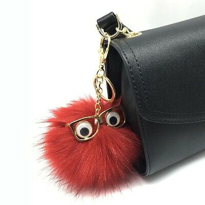 Ornaments Lovely Wool Ball Small Monster Car Keychain Fur Glasses Key Ring