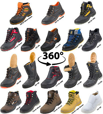 Urgent Leather Safety Work Boots Steel Toe Cap Shoes Trainer Hiker Size