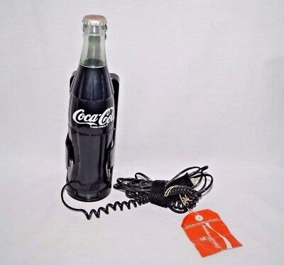 Vintage Coke Coca-Cola Phone Bottle Shape Push Button 1980's Retro Soda Wall