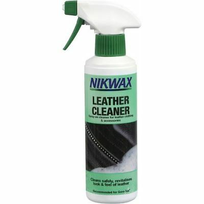 Nikwax Leather Cleaner 300ml Spray On Clothing & Accessories Removes Dirt Grease