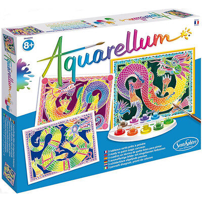 Aquarellum Painting By Numbers, Dragons - Painting Activities for Kids