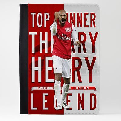Thierry Henry Arsenal iPad Case Leather Tablet Cover Football Legend LG75