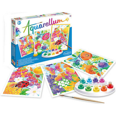 Aquarellum Painting By Numbers, In The Flowers - Painting Activities for Kids