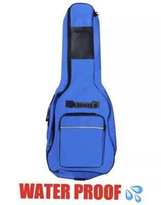 Padded Electric / Acoustic Guitar Bag And Back Pack Waterproof Hard Wearing